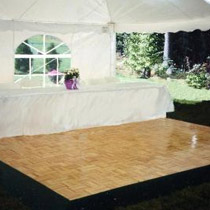 Dance Floor inside party tent - party tent toronto