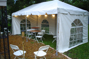 Tent For Rental 10 X 10 Frame Tent With Solid Sidewalls