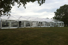40' wide arch span clear wall