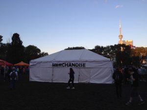 Merchandise Tent Rent