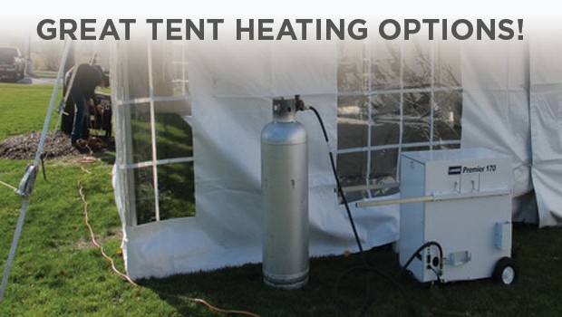 Tent-Heater & Heating Options During the Polar Vortex - Party tent rentals for ...